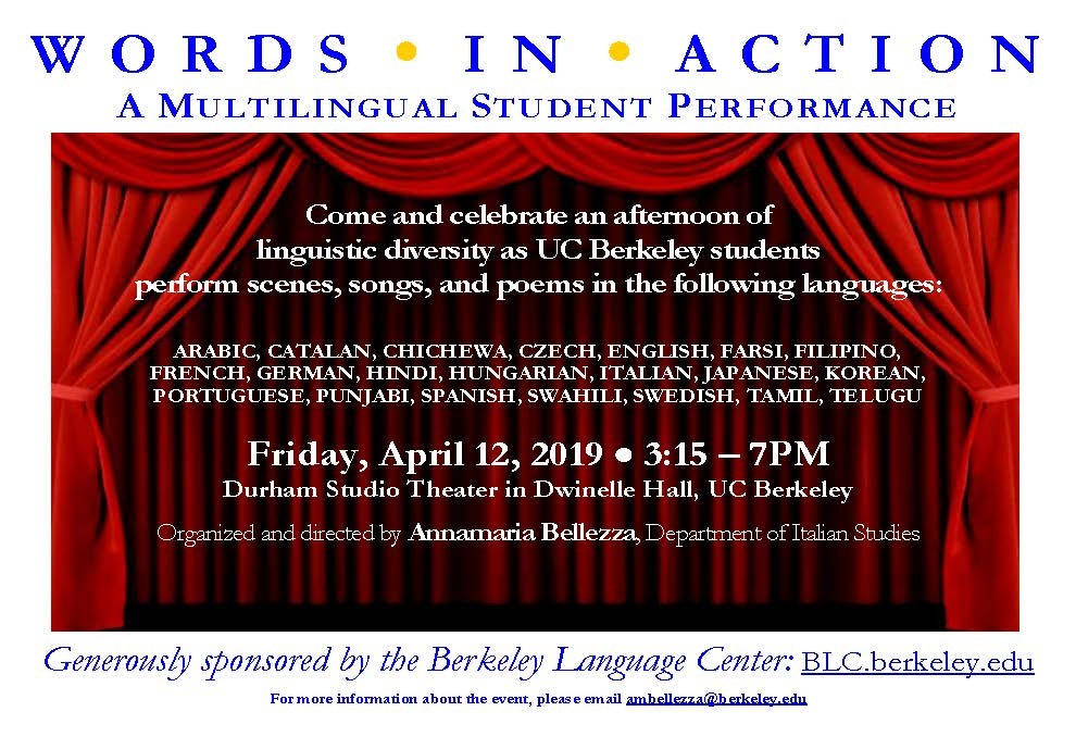 Words in Action: A Multilingual Student Performance : Department of